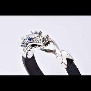 John Hardy Legend Naha leather silver bracelet